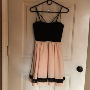 Black and nude pink dress!